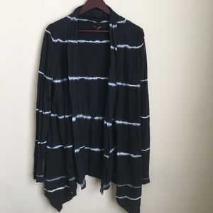 Lucky Brand Open Front Draped Tie Dye Cardigan